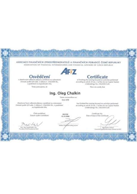 Certificate-CZ